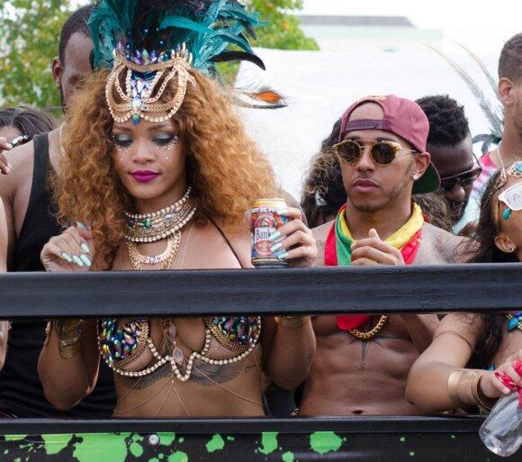 Rihanna ir Lewisas Hamiltonas