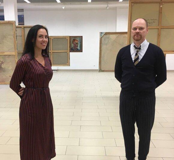 Konkurso Jaunojo tapytojo prizas organizatoriai Julija Dailidėnaitė ir Vilmantas Marcinkevičius