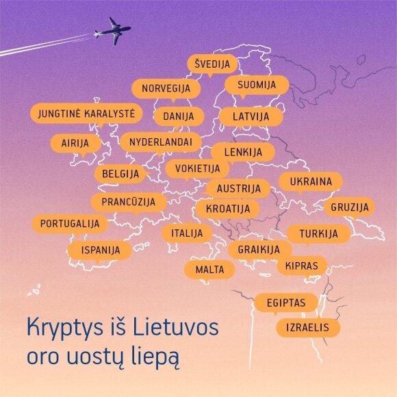 Lietuvos oro uostuose - naujos kryptys