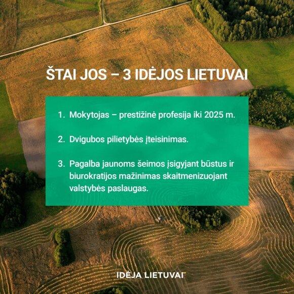 3 idėjos Lietuvai