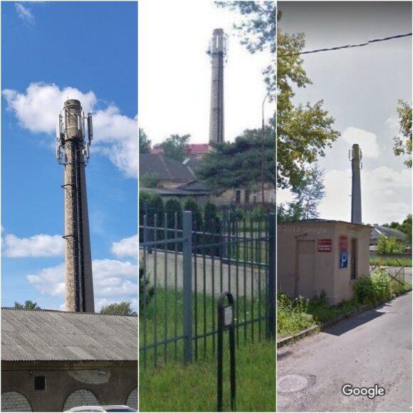 Iš kairės į dešinę darytos to paties kamino nuotraukos: 2017.07.17; 2015.06; 2012.06