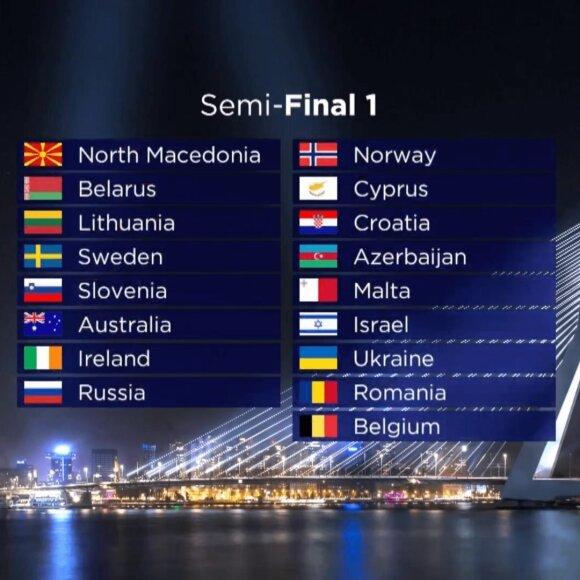 """2021-ųjų metų """"Eurovizijos"""" pusfinalis"""