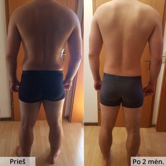 Vos per du mėnesius atsikratė pilvo ir 10 kilogramų