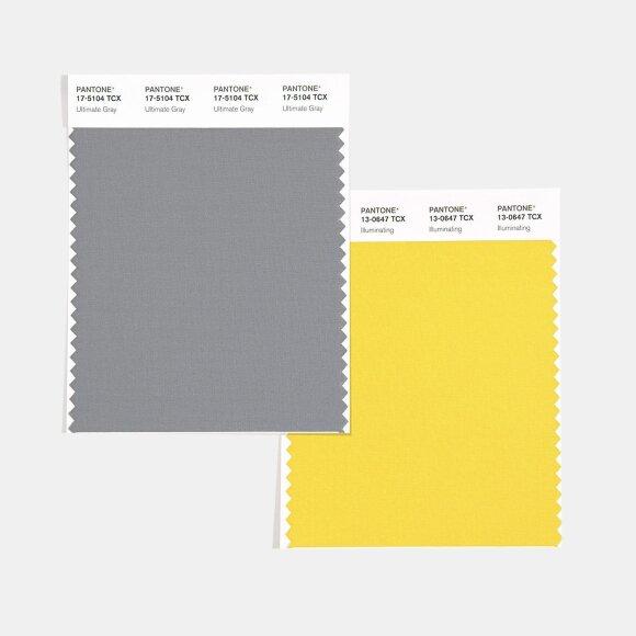 Pantone metų spalvos – pilka ir geltona