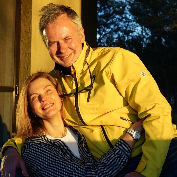 Darius Radzevičius su žmona