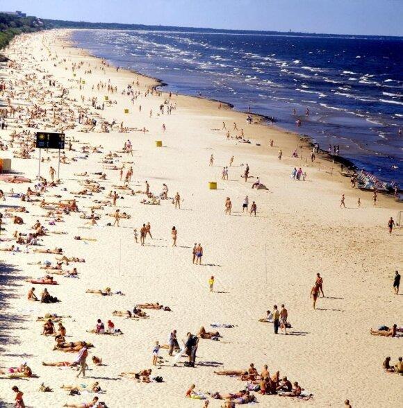 Jurmala a coast resort popular with Russians