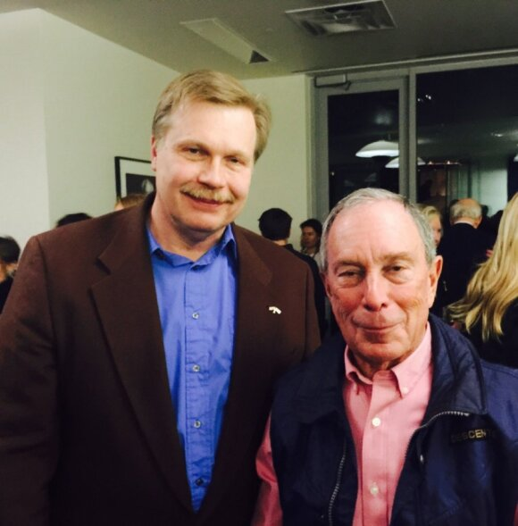 Lithuanian Honorary Consul Jonas Prunskis and Michael Bloomberg