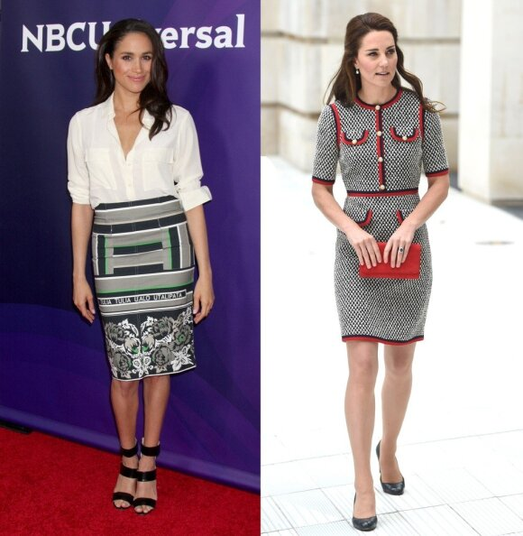 Meghan Markle (kairėje) ir Kate Middleton/ Shutterstock ir Vida Press nuotr. montažas