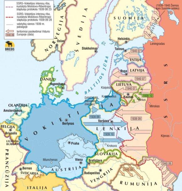 Vidurio Europa 1939–1940 m.