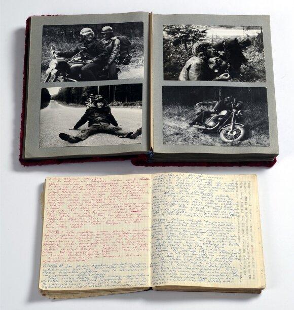 Senas fotografijų albumas ir dienoraštis