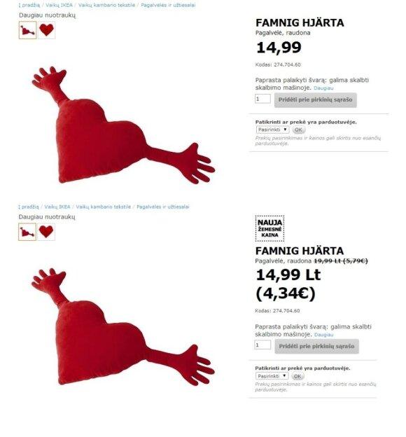 """""""Ikea"""" kainų <em>pokyčiai</em>: Lietuvoje prekybininkai turi trumpą atmintį?"""