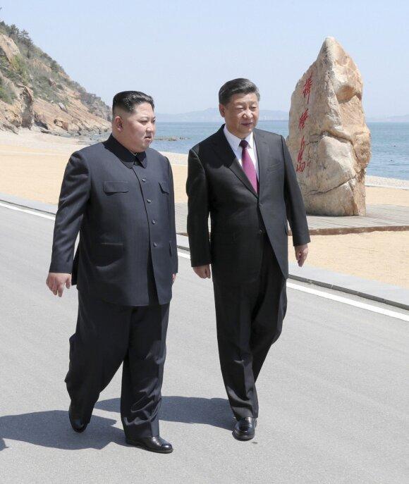 Kinijoje – Kim Jong Uno vizitas