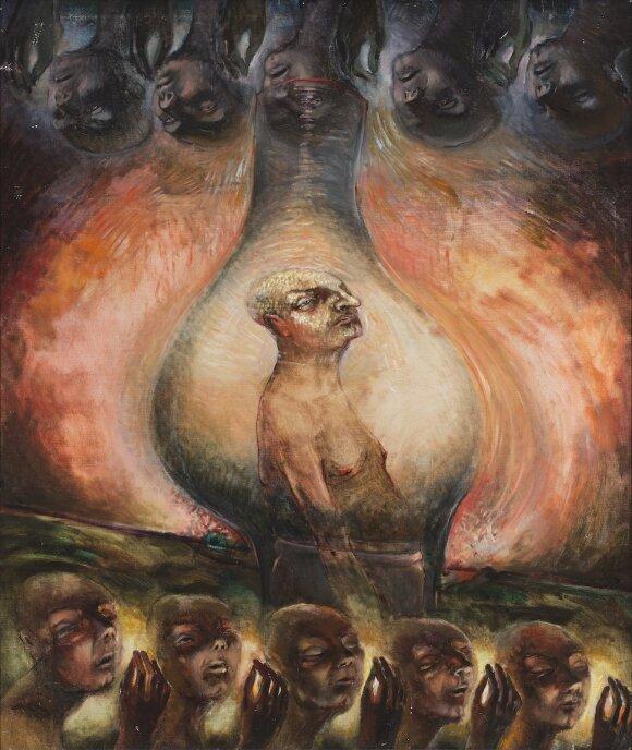 """Sauliaus Urbonavičiaus-Samo paveikslas """"Lempa"""""""