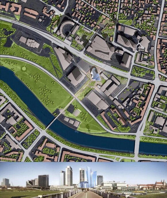 12 pav. Konkursą laimėjęs D. Libeskindo projektas (iš pilotas.lt archyvo)