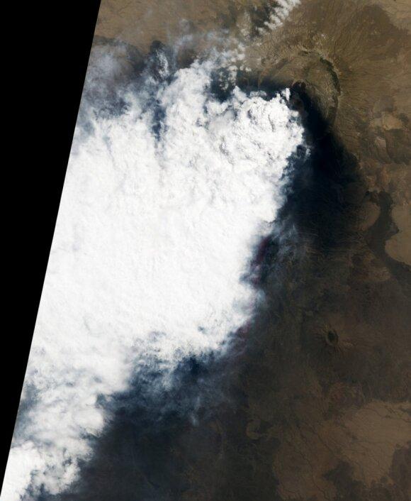 Спутник NASA заглянул в жерло вулкана