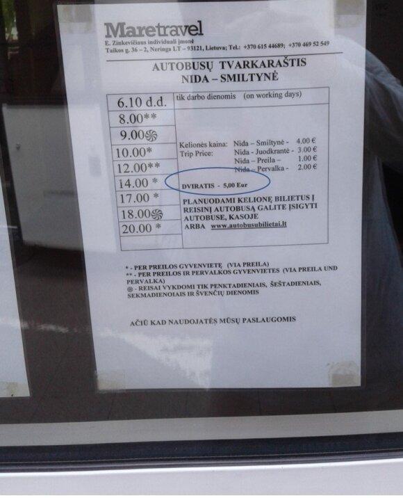 Atostogautojui kelionę į Neringą sugadino keistas nurodymas autobusų stotelėje