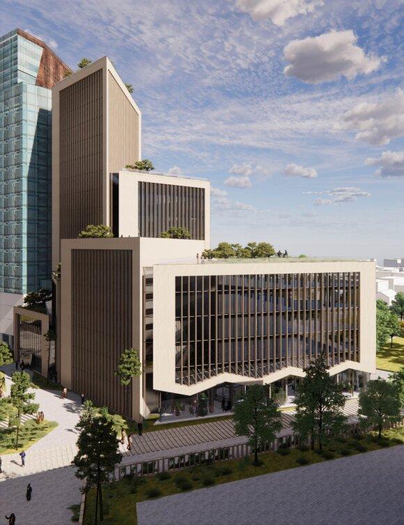 Danijos architektų Arrow architects pasiūlymas