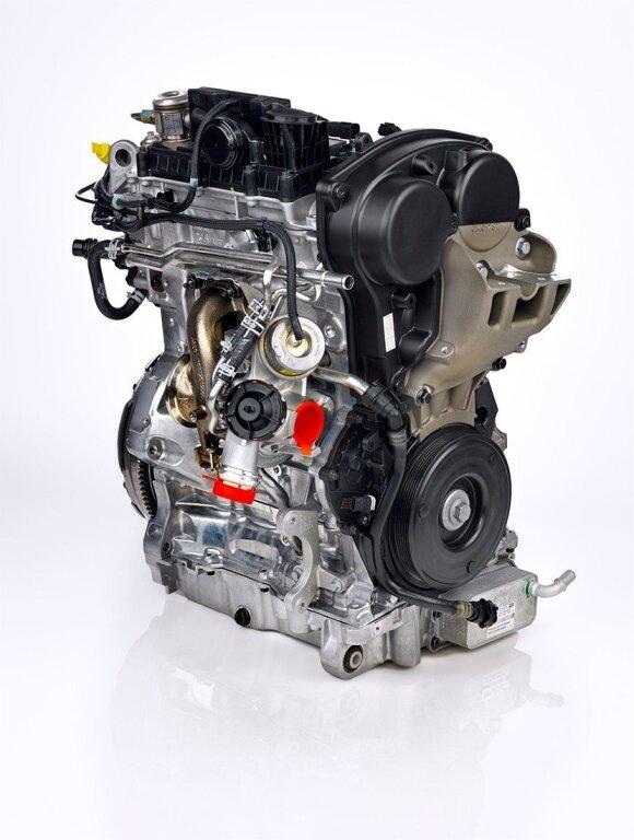 Volvo trijų cilindrų variklis