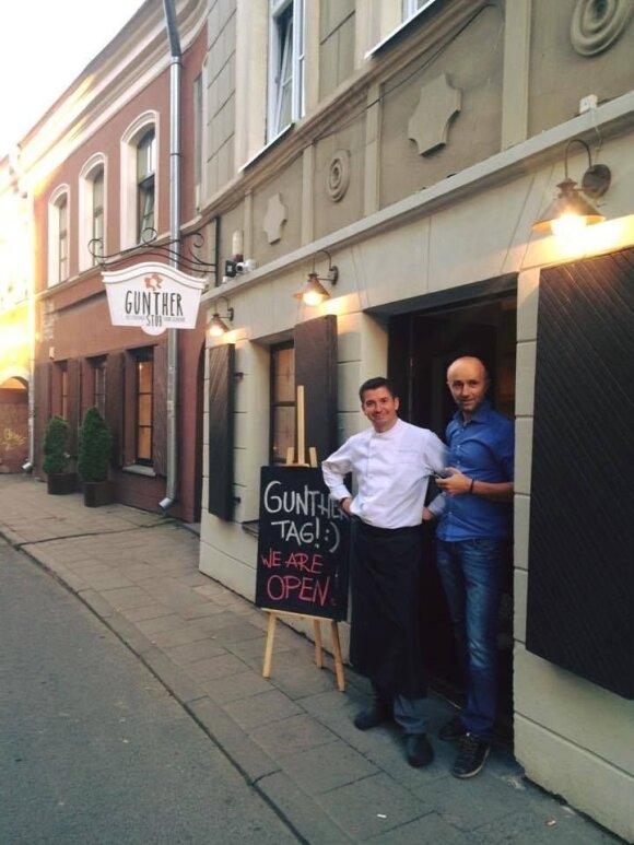 Restoranų šefas Christian Mathis (k) ir savininkas Thomas Teitenas (d)