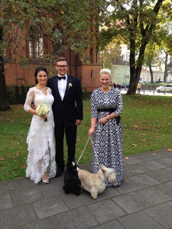 Simona Česnaitė su vyru Martynu
