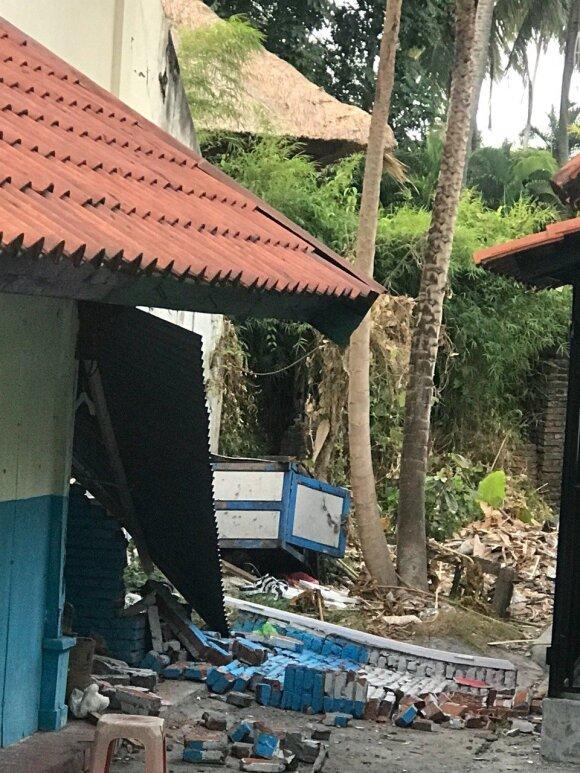Vaizdai po antro žemės drebėjimo