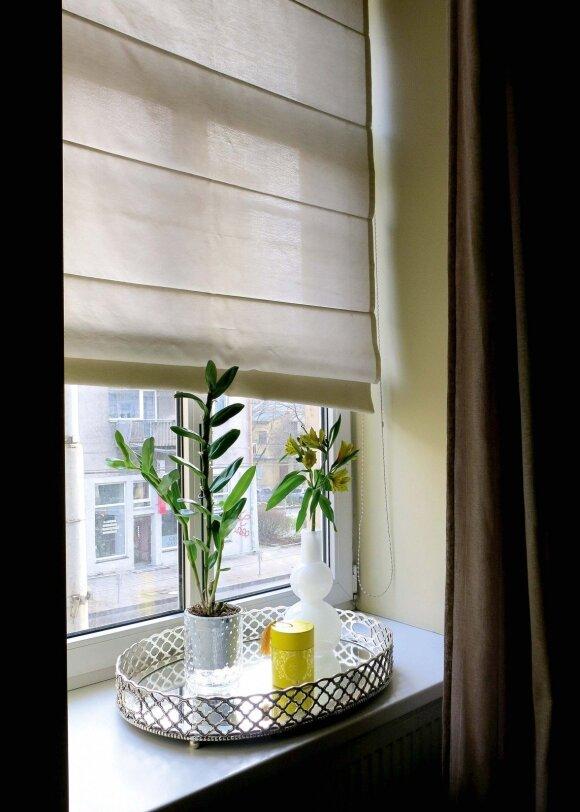 Natiurmortas ir vaizdas pro miegamojo langą