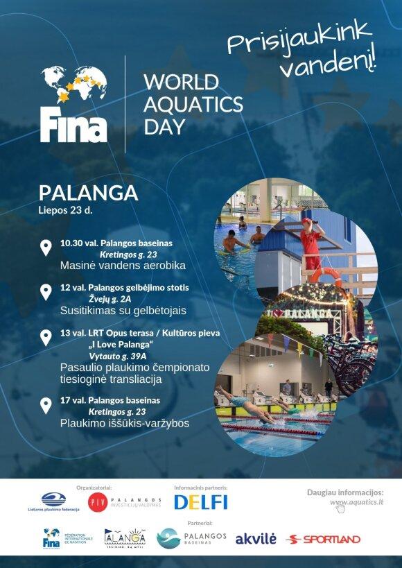 Pasaulinė FINA Aquatics diena atkeliauja į Lietuvą