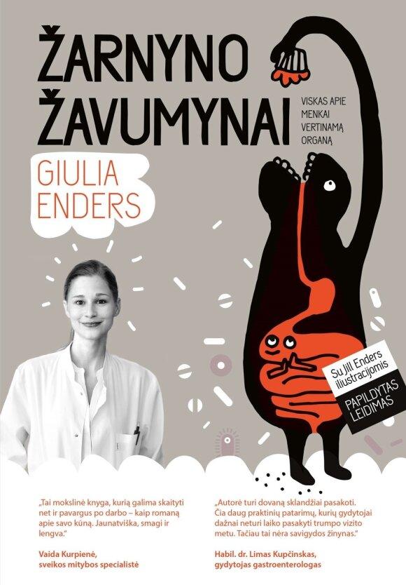 """G. Enders knygos """"Žarnyno žavumynai"""" viršelis."""