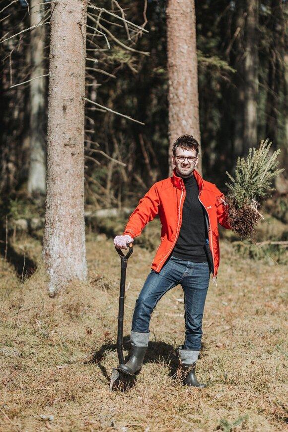 Pasodink medį iniciatyvos autorius Karolis Mirinavičius, S. Balkės nuotr.