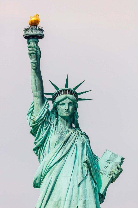 Šią statulą prancūzai Jungtinėms Amerikos Valstijoms padovanojo šalies 100-ųjų nepriklausomybės metinių proga