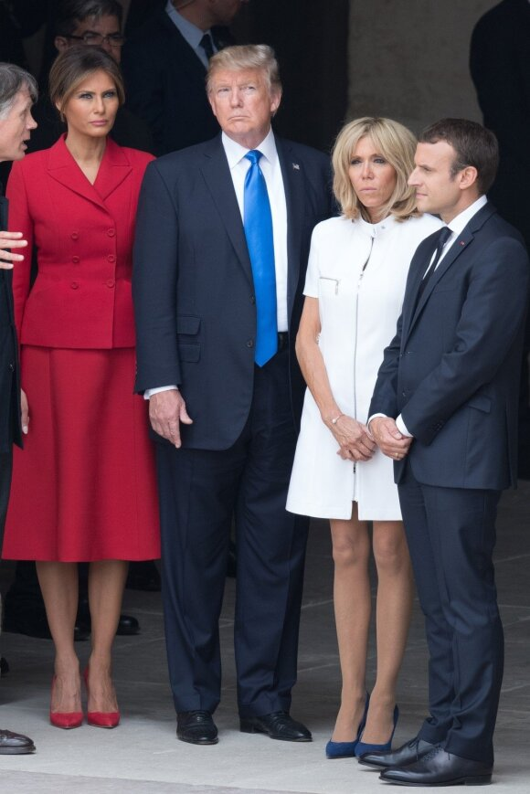 Melania Trump, Donald Trump, Brigitte Macron, Emmanuel Macron