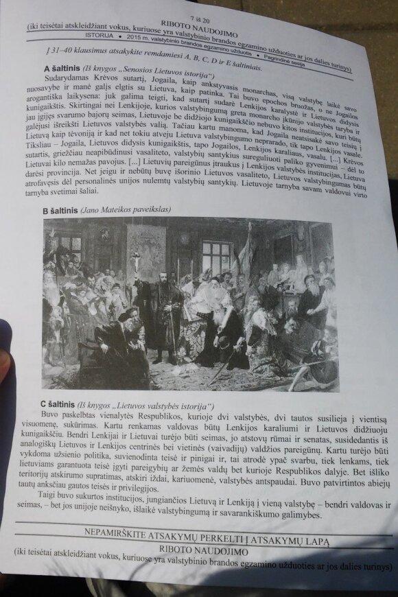 Po istorijos egzamino – abituriento skundas: kaip atskirti Lietuvos valdovus?