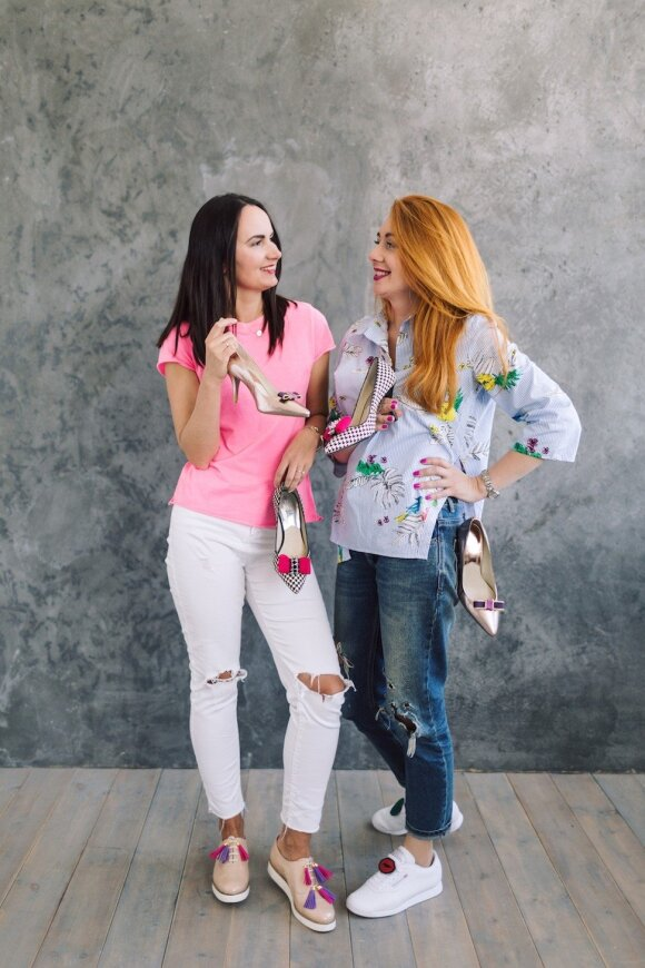Jelena Balkūnaitė-Cyba ir Liudmila Butina