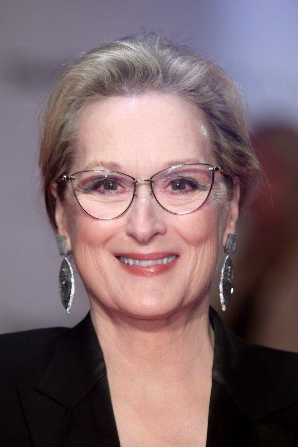 68-erių Meryl Streep ant raudono kilimo pademonstravo klasišką įvaizdį