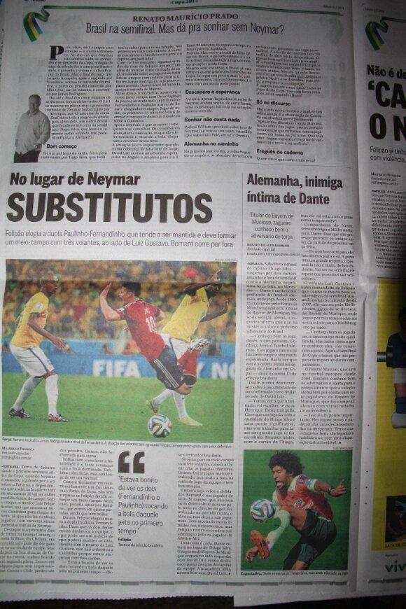 Brazilijos laikraščiuose vyksta debatai apie permainas komandos startinėje sudėtyje