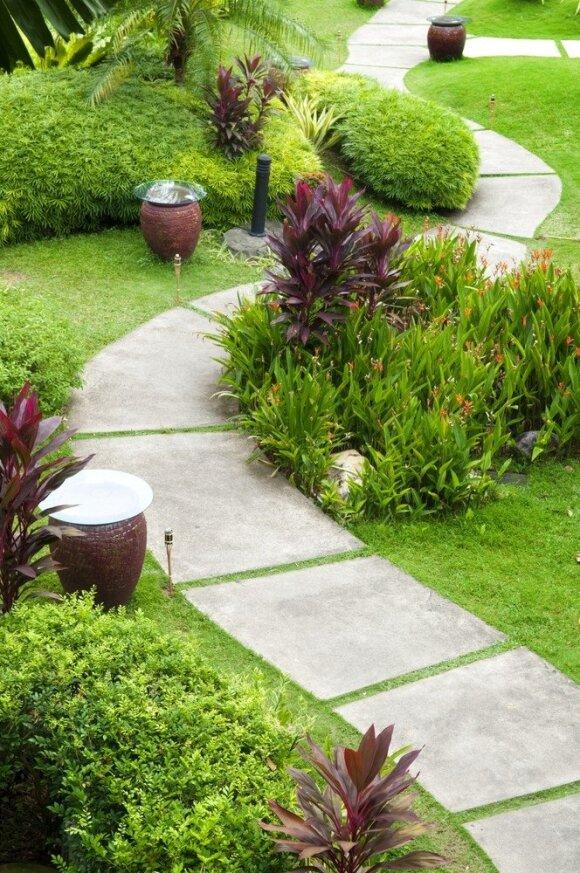 Jaukios sodo takelių idėjos