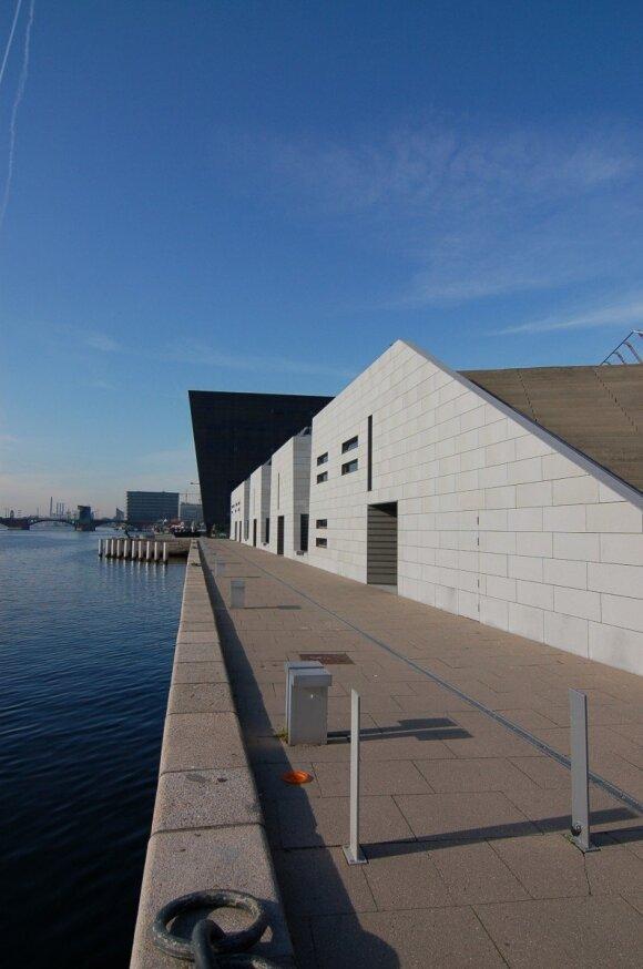 Upės pakrantė Kopenhagoje