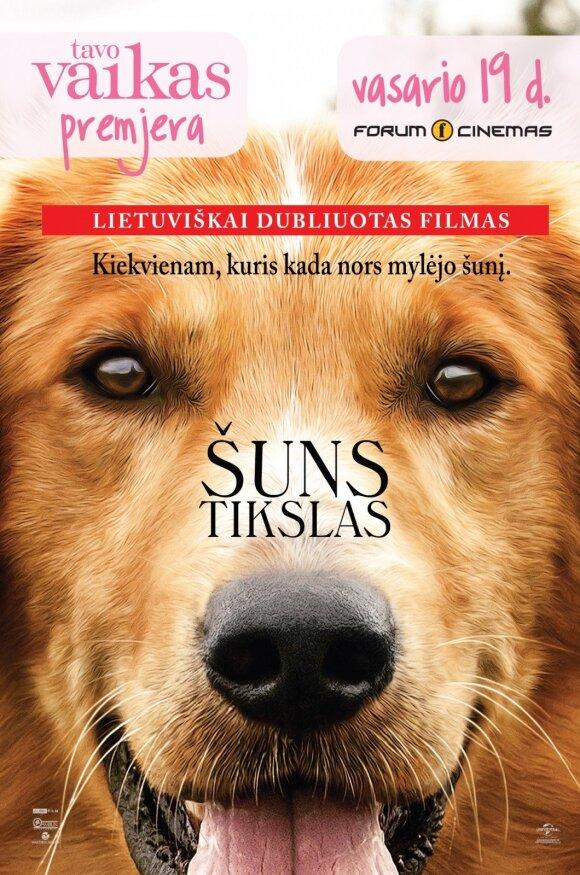 TAVO VAIKO premjeroje – lietuviškai dubliuotas filmas ŠUNS TIKSLAS