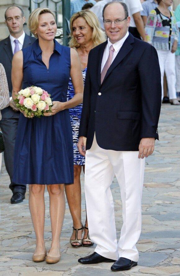 Šeštą mėnesį nėščia Monako princesė: o kur pilvas?