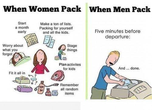 9 baisiai taiklūs ir juokingi skirtumai tarp vyrų ir moterų