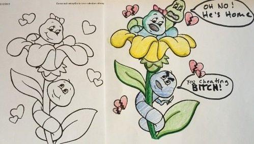 Štai kas atsitinka, kai spalvinimo knygutė į rankas patenka labai keistam suaugusiajam