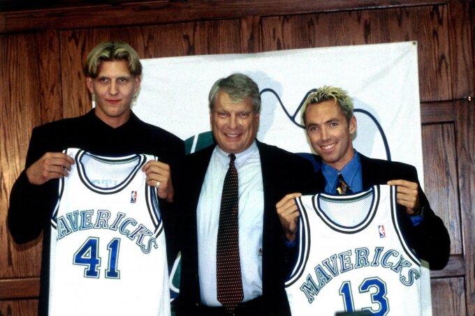 Dirkas Nowitzki, Donas Nelsonas ir Steve'as Nashas