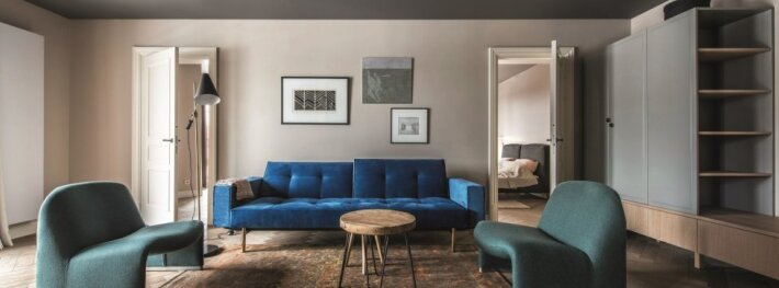 Apgalvoti kontrastai 3 kambarių bute Druskininkuose