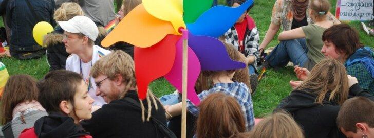 Gedimino prospekte - homoseksualų eitynės