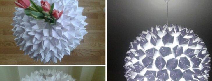 Kaip pasigaminti paprastą, tačiau stilingą popierinį šviestuvą