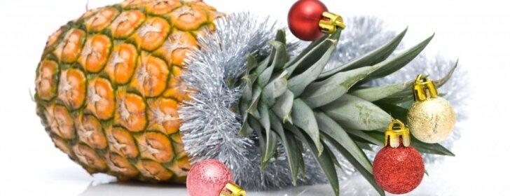 Netikėta dekoracija: ananasas-kalėdinė eglutė
