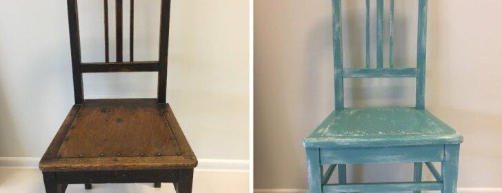 Vintažinis dažymas: kaip senus baldus prikelti naujam gyvenimui