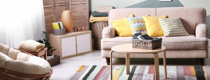 8 patarimai, kaip pasiekti maksimalios erdvės įspūdį mažoje svetainėje