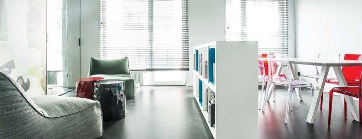 Įkvepiantys mažos erdvės sprendimai: 40 kv.m butas Vilniuje