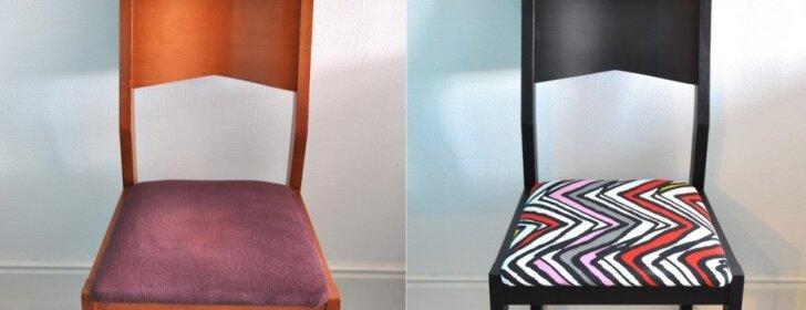 """<span style=""""color: #ff0000;"""">PRIEŠ ir PO:</span> kėdės atnaujinimas"""